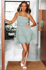 Straps Short Mint Green Beach Dress Summer Dress