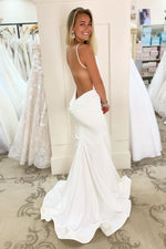 Elegant Open Back Mermaid Long Evening Dress