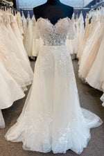 A-line Mint Green Lace Homecoming Dress