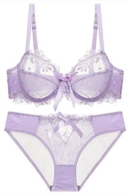 Illusion Lilac Lingerie Set