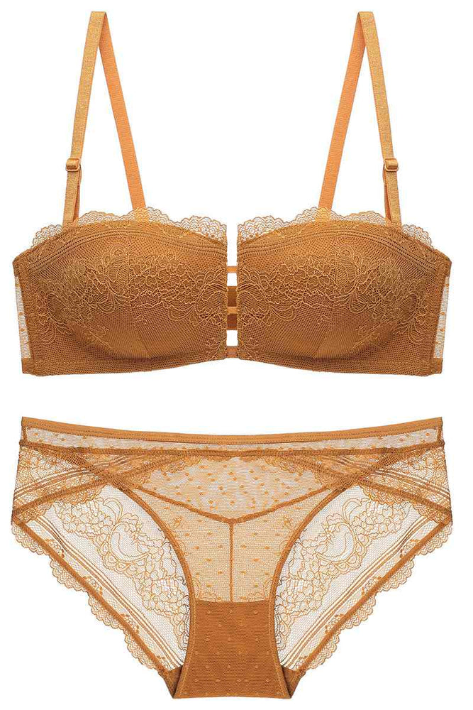 Burnt Yellow Lingerie Set
