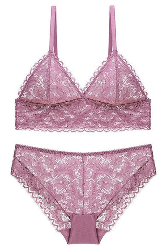 Sexy Triangle Pink Lingerie Set