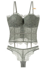 Sage Lace Lingerie Set