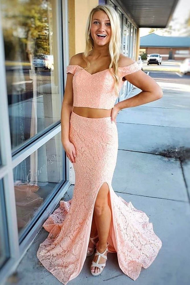 Mermaid Off Shoulder Yellow Prom Dress with Train