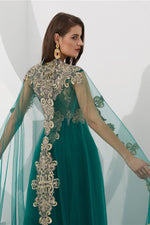 Elegant Green Beaded Floor Length Prom Formal Dress