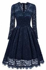 Long Sleeves Lace Wisteria Party Dress