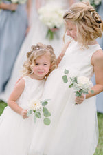 Adorable Ivory Flower Girl Dress