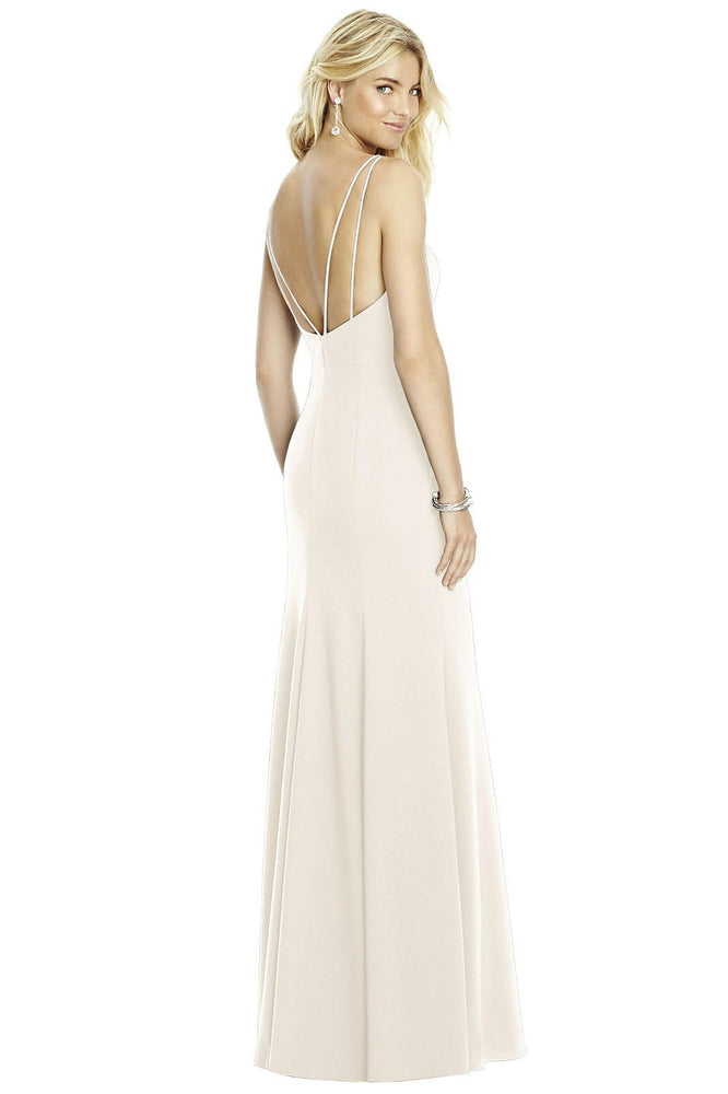 Boat Neck Sleeveless White Bridesmaid Dress with Open Back