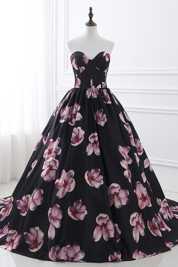 Sweetheart Floral Ball Gown