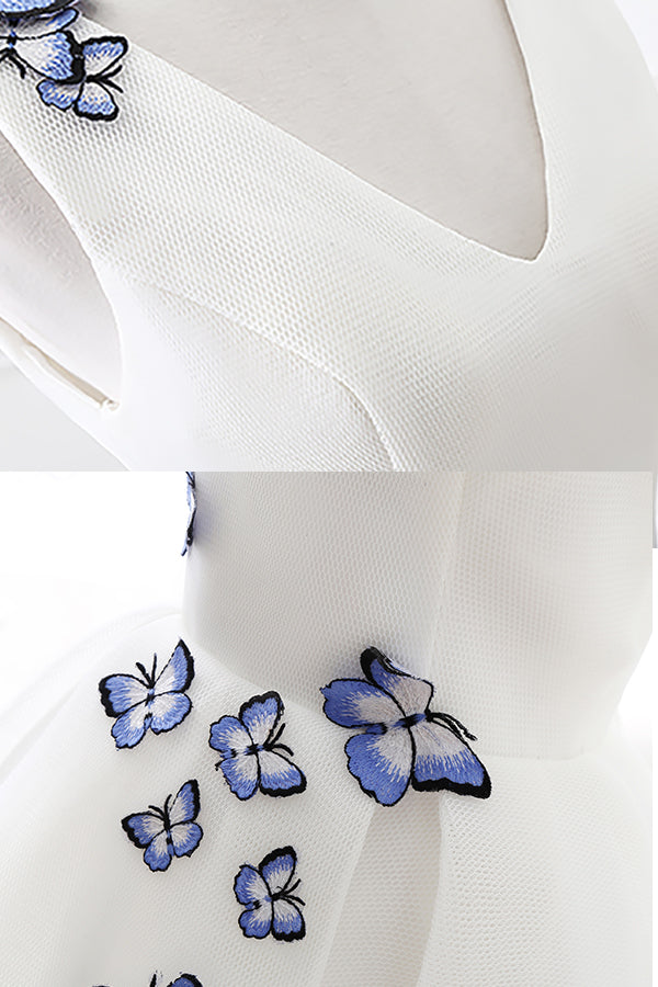 Butterfly Appliques Short Homecoming Dress