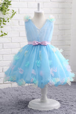Adorable Appliques Flower Girl Dress with Ribbon Waist