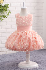 Cute Mini Flower Girl Dress with Appliques