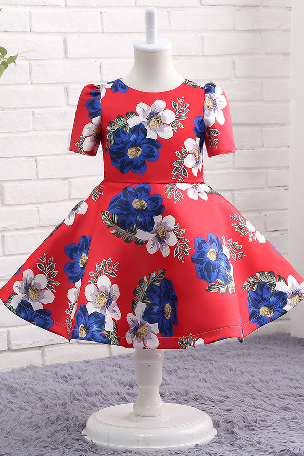 Floral Short Flower Girl Dress