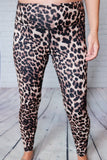 Animal Print High Waisted Yoga Stitch Leggings Wide Waistband  Hidden Key Pocket Non Sheer 84% Polyester, 16% Spandex