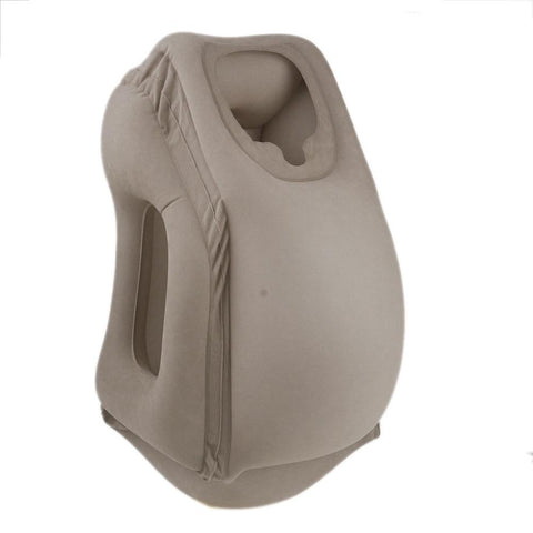 Image of TRAVEL PILLOW INFLATABLE PILLOWS AIR SOFT CUSHION TRIP PORTABLE INNOVATIVE PRODUCTS BODY BACK SUPPORT FOLDABLE BLOW NECK PILLOW