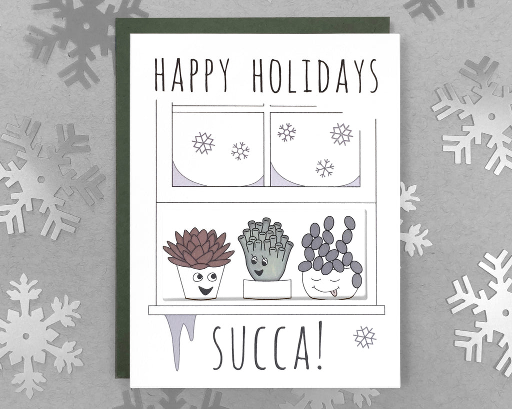 succulent holiday card