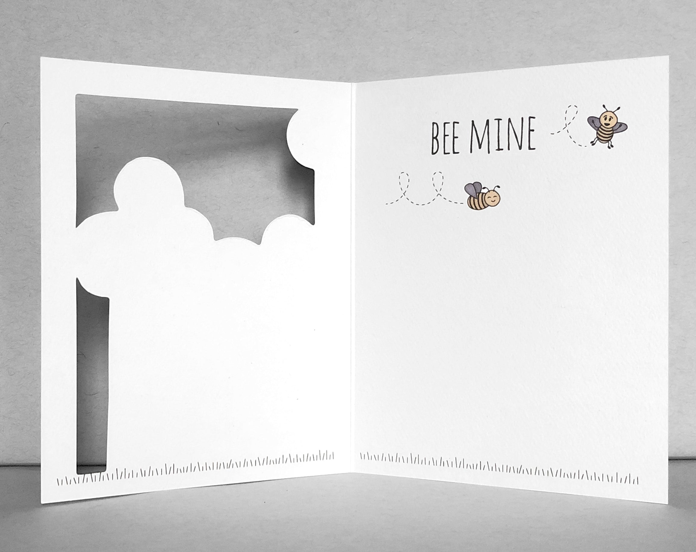 bee Valentine's Day card