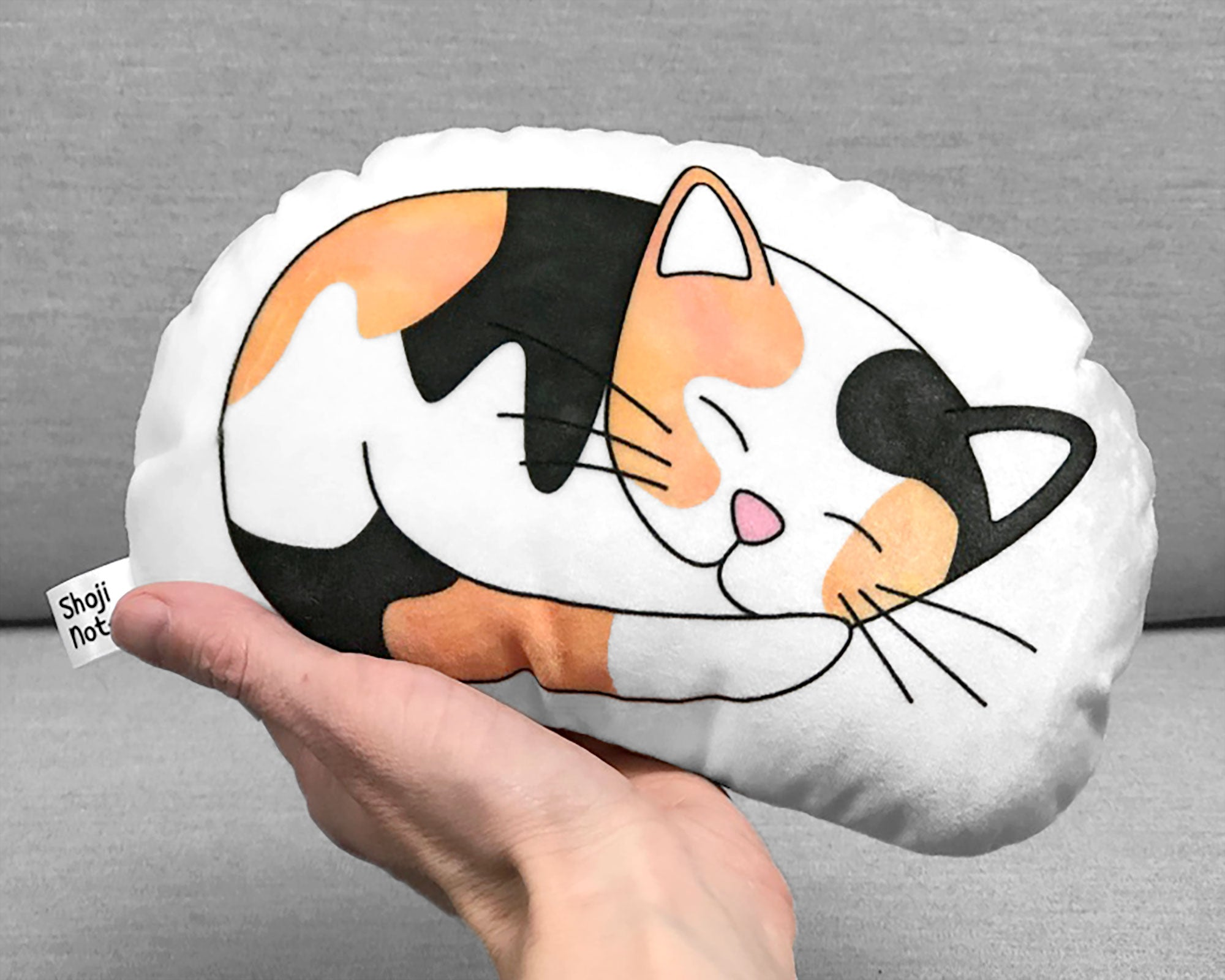 Calico kitten plushie