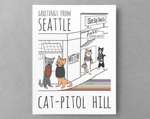 Seattle card Capitol Hill cats