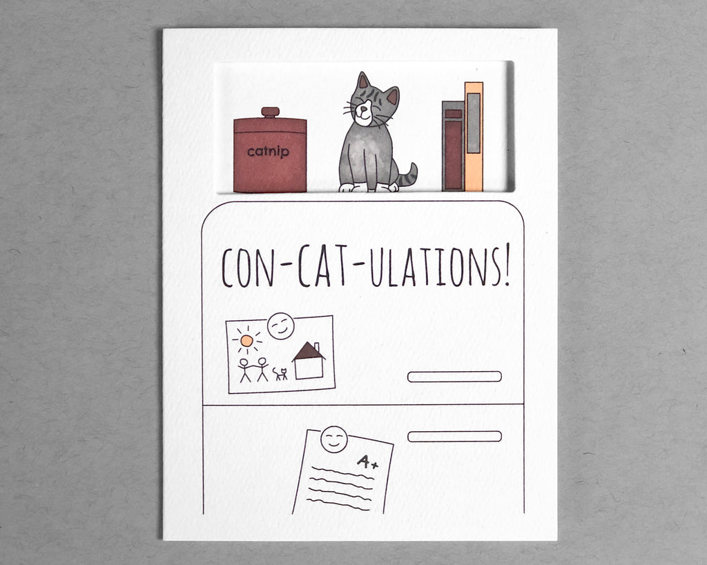 cat congratulations card