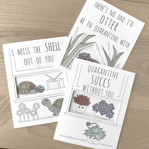 Succulent quarantine card