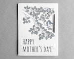 blue bird mother's day card