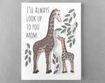 giraffe mother's day card