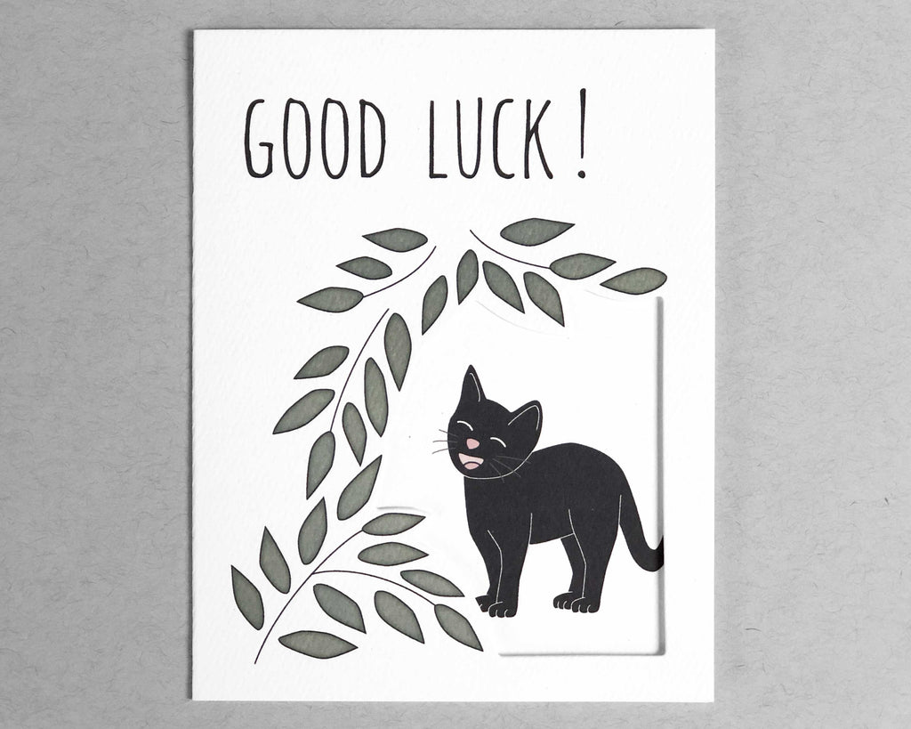 cat good luck card