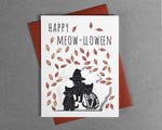 Cat Halloween card