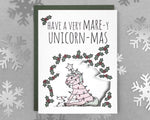 unicorn holiday card