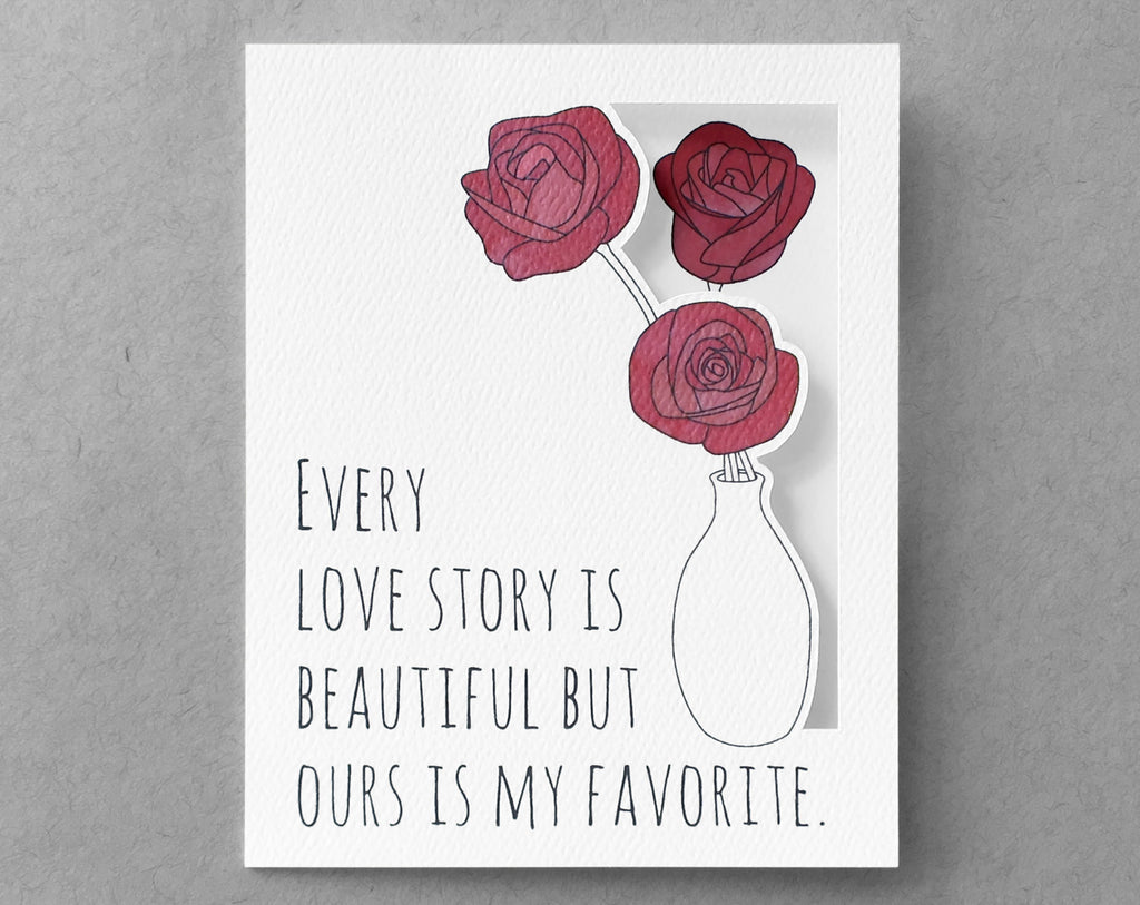 rose love card
