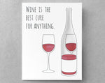 wine encouragement card