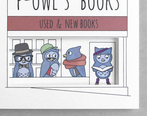 Powell's owl Portland card