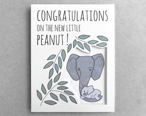 elephant congratulations baby card