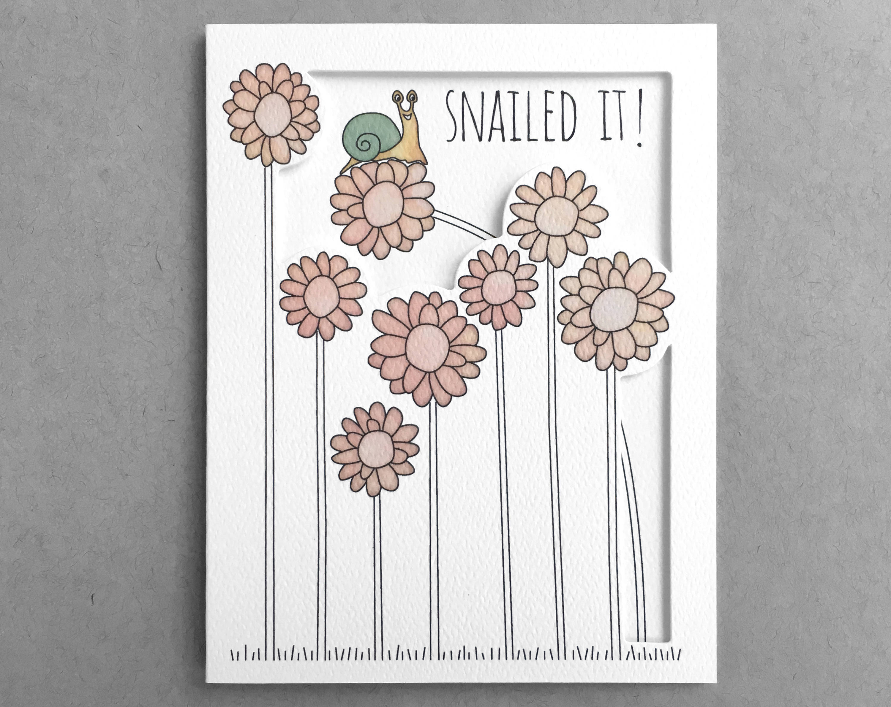 snail congratulations card