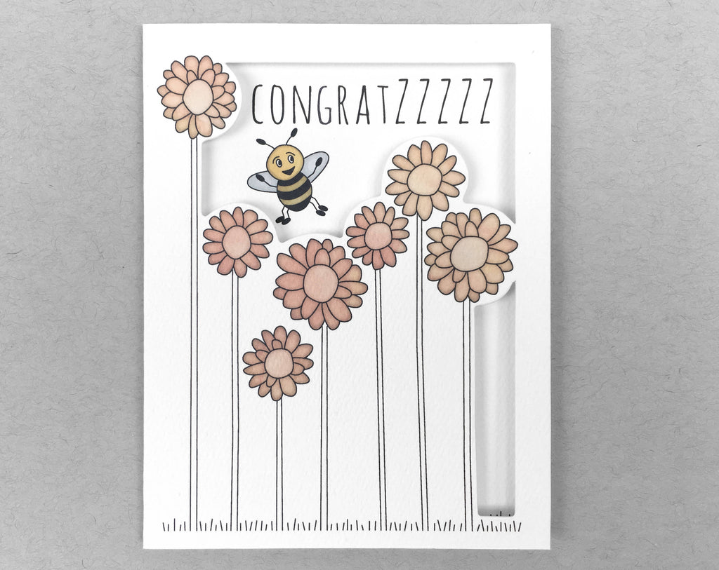 bee congratulations card
