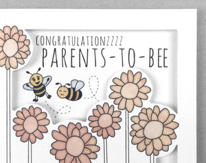 bee congratulations baby card