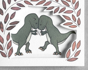 t-rex miss you card