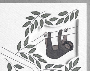 sloth love card