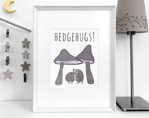 hedgehog art print [hedgehugs]