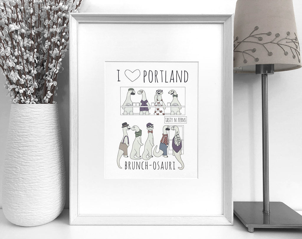 Portland brunch art print