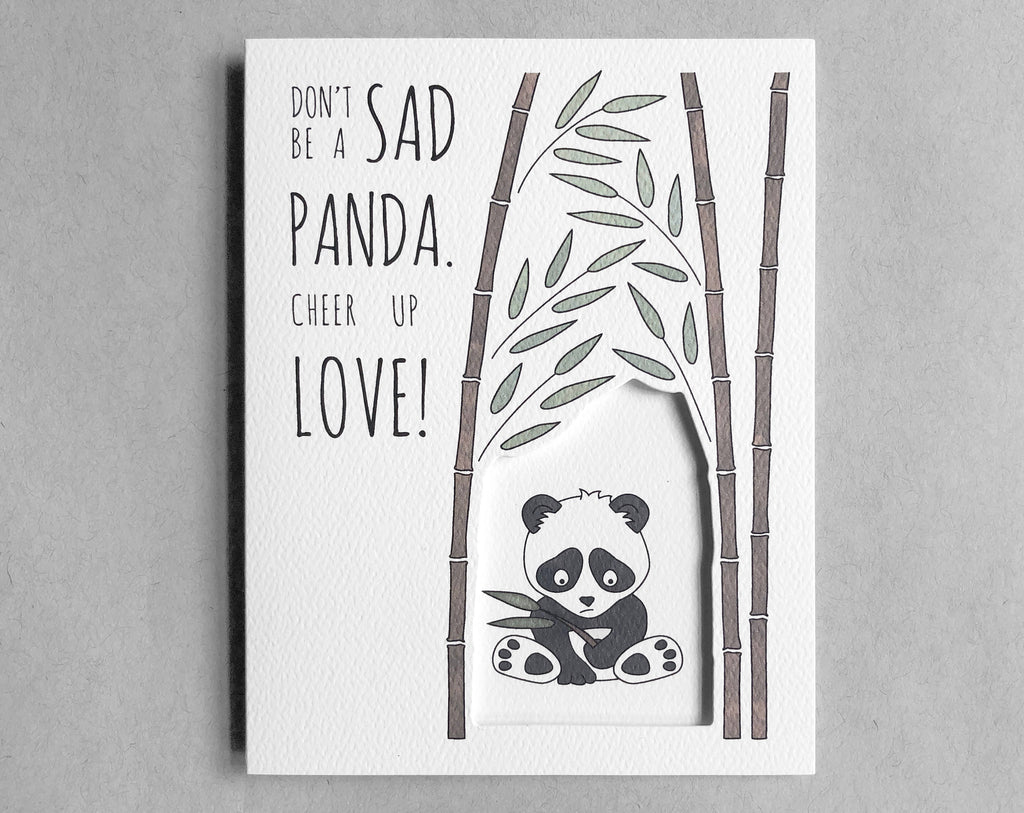 panda encouragement card