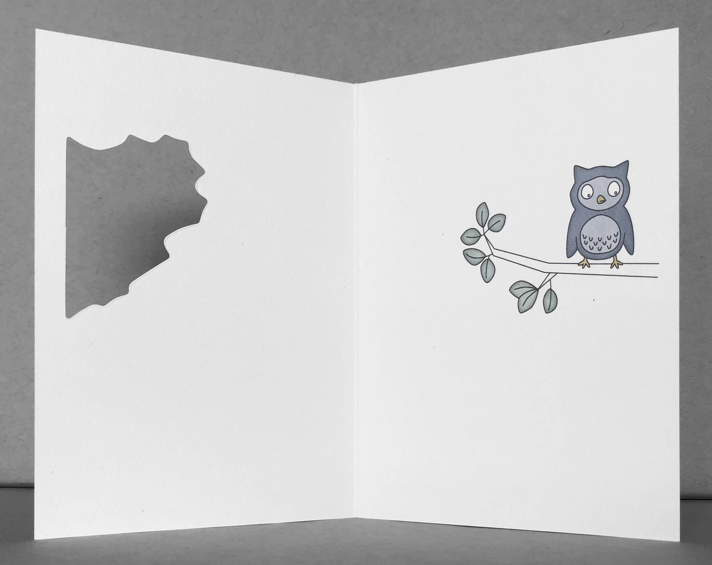 owl miss you card