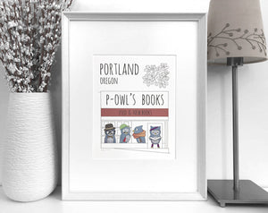 Portland Powell's Books art print