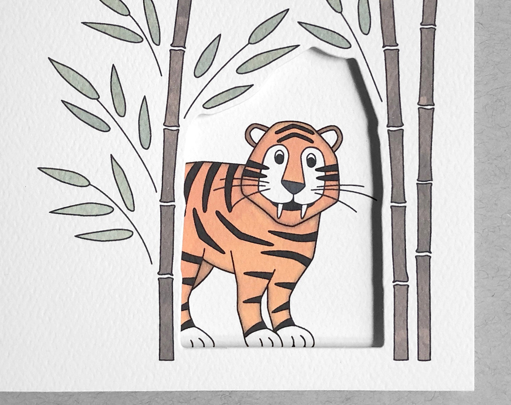 tiger thank you card