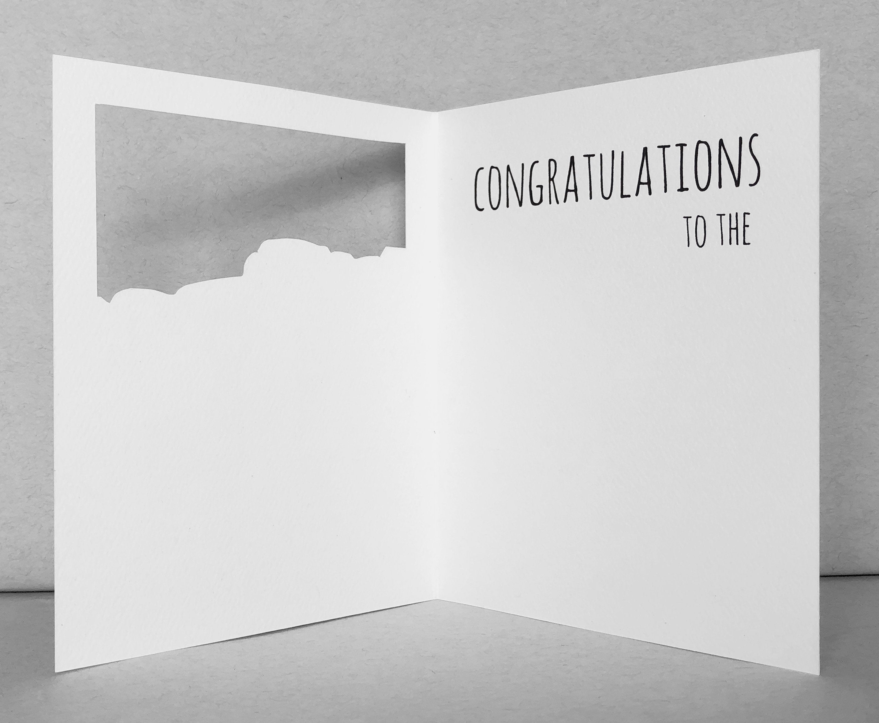 llama congratulations wedding card
