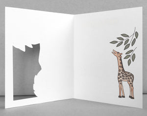 Father's Day giraffe card