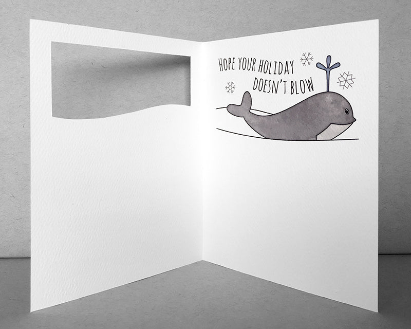 whale holiday card