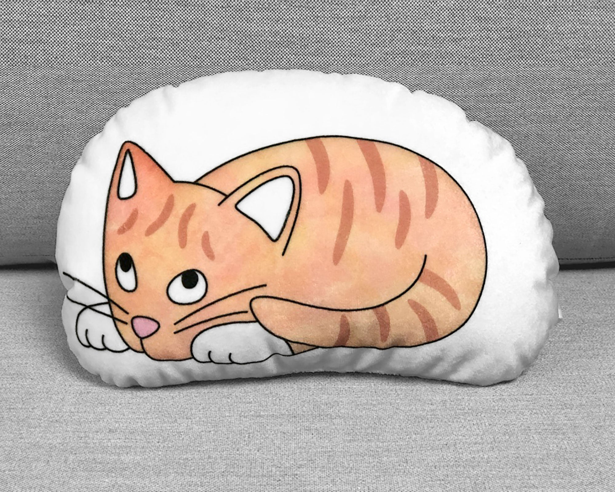 Orange tabby kitten plushie