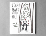 panda Valentine's Day card